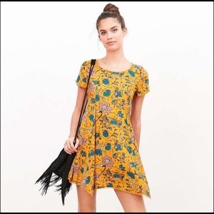 UO // GU s+n floral witchy tee dress